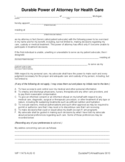 Durable Power of Attorney for Health Care Free Download