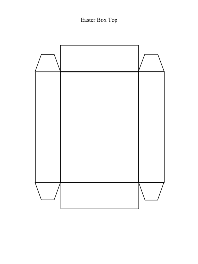 Easter Box Top Template