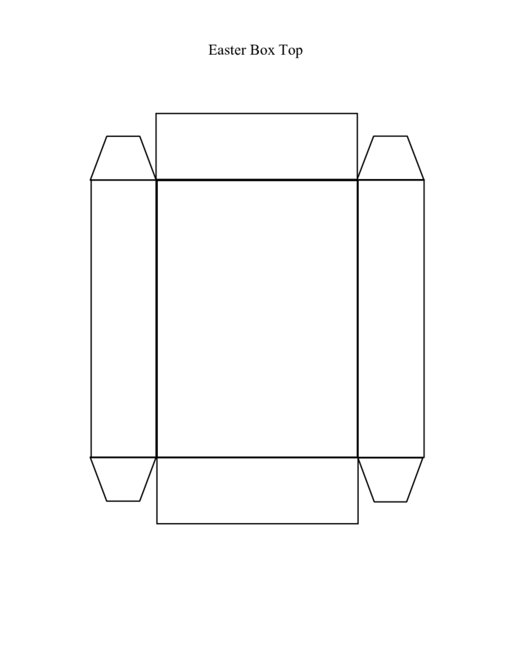 1 Easter Box Top Template