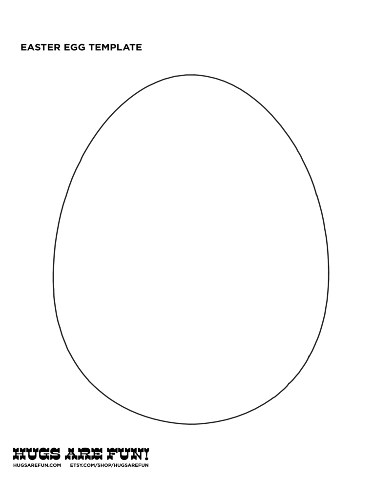 Sample Easter Egg Template