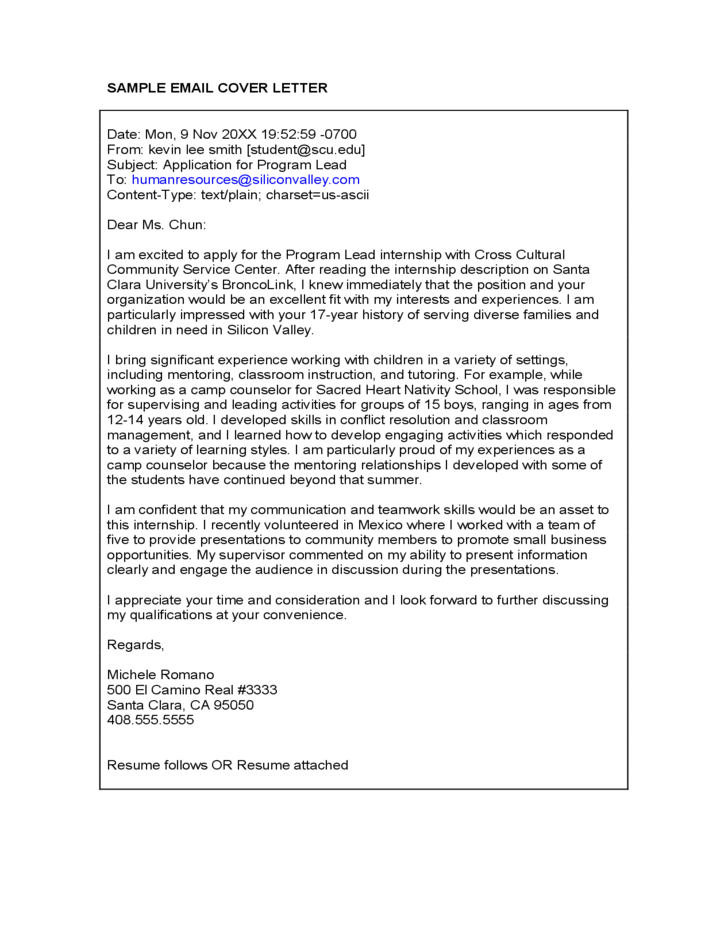 should i attach cover letter to email - sample email cover letter free download