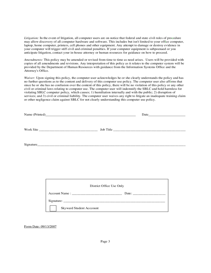 sample email policy template free download
