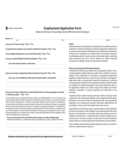 New Employee Application Form - Indiana Free Download