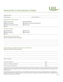 Employee Counseling Form - Georgia Free Download