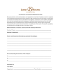 Employee Of The Month Nomination Form - New Jersey Free Download