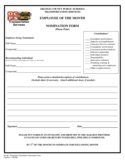 Employee Of The Month Nomination Form - Carolina Free Download