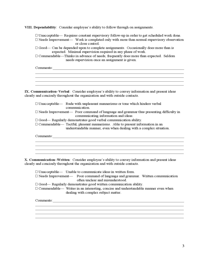 Effective Evaluation Forms | Employee Evaluation Forms. The Following Page  Provides Access To A Number Of Different Forms Relating To A Wide Variety  Of HR ...