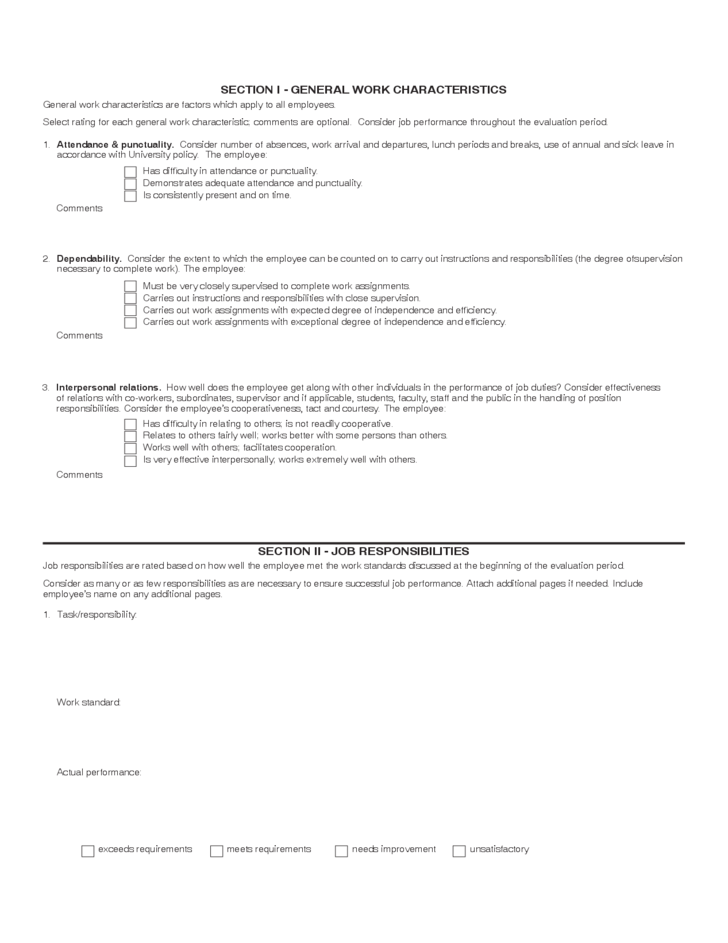 Classified Employee Performance Assessment