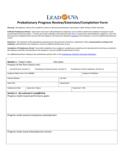 Employee Probation Form - University of Virginia Free Download