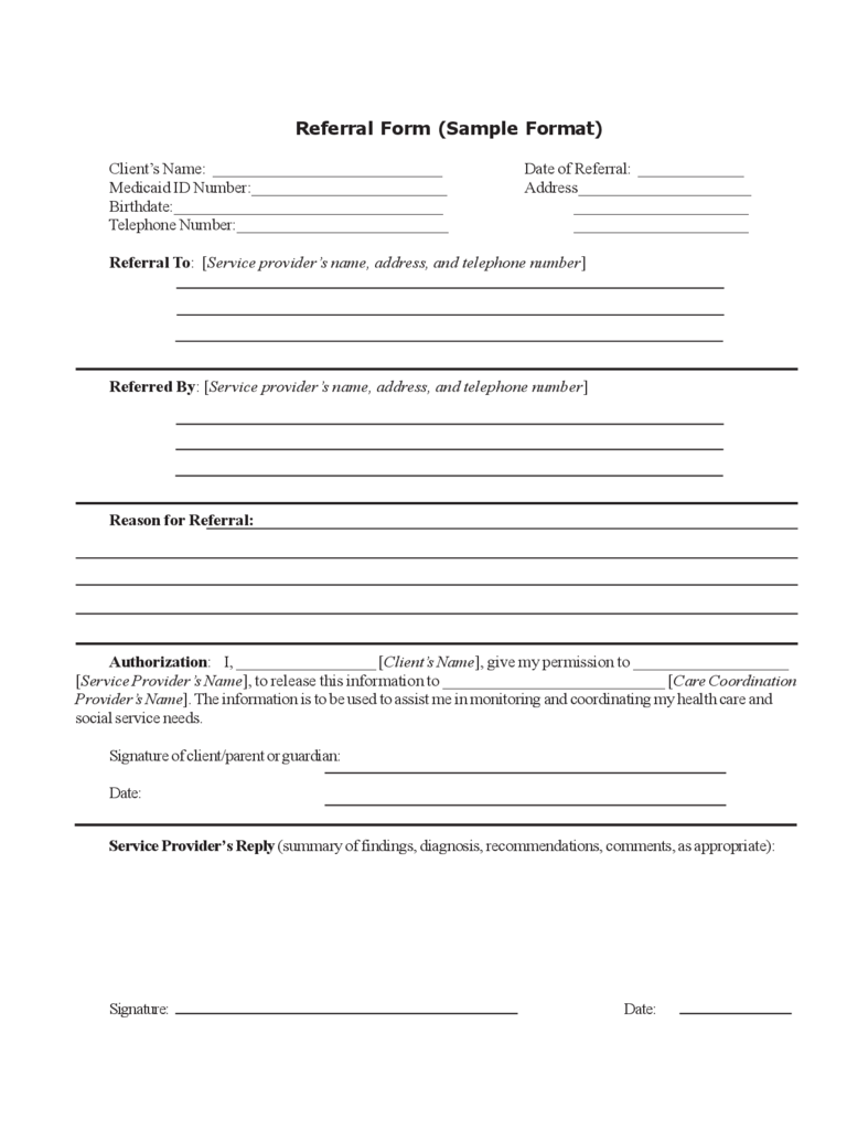 Employee referral form 2 free templates in pdf word for Referral document template