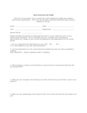 Simple Self-Evaluation Form Free Download