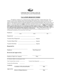 Employee Vacation Request Form - Nebraska Free Download
