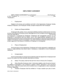 Employment Agreement Free Download