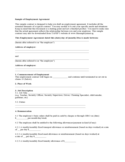 Employment Agreement Sample Free Download