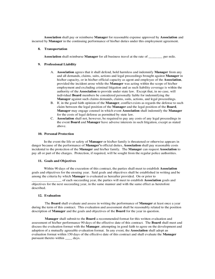 Manager Contract Template Photo. Artist Management Contract ...