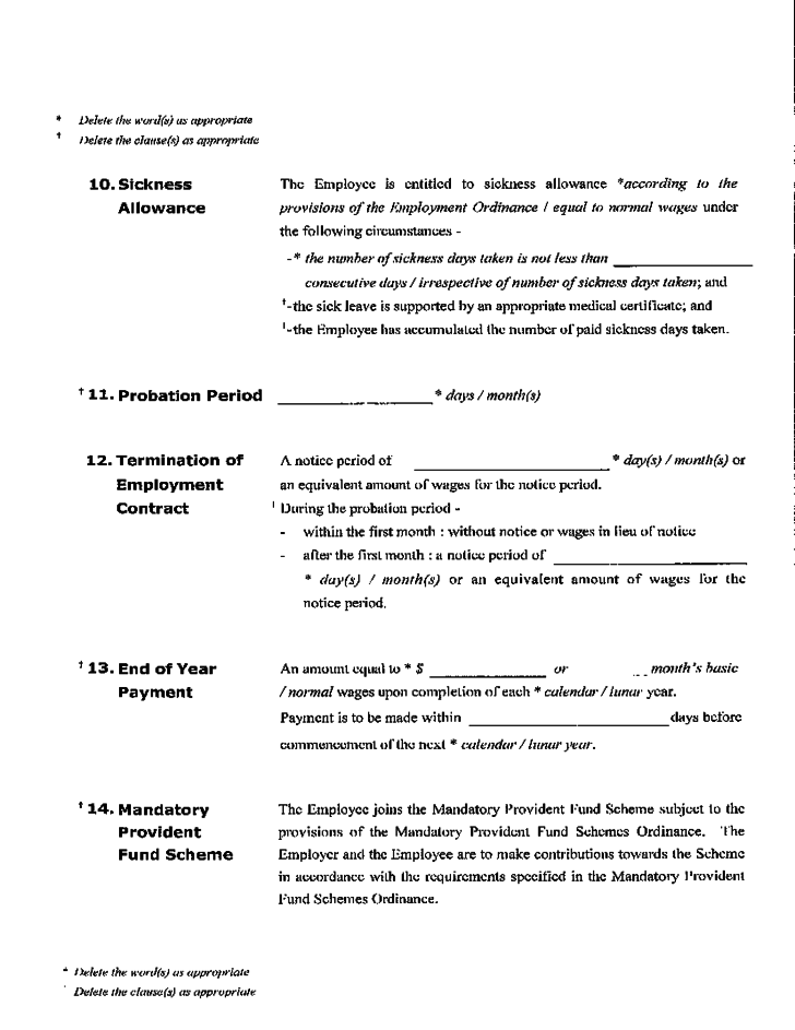 Sample Employment Contract Free Download
