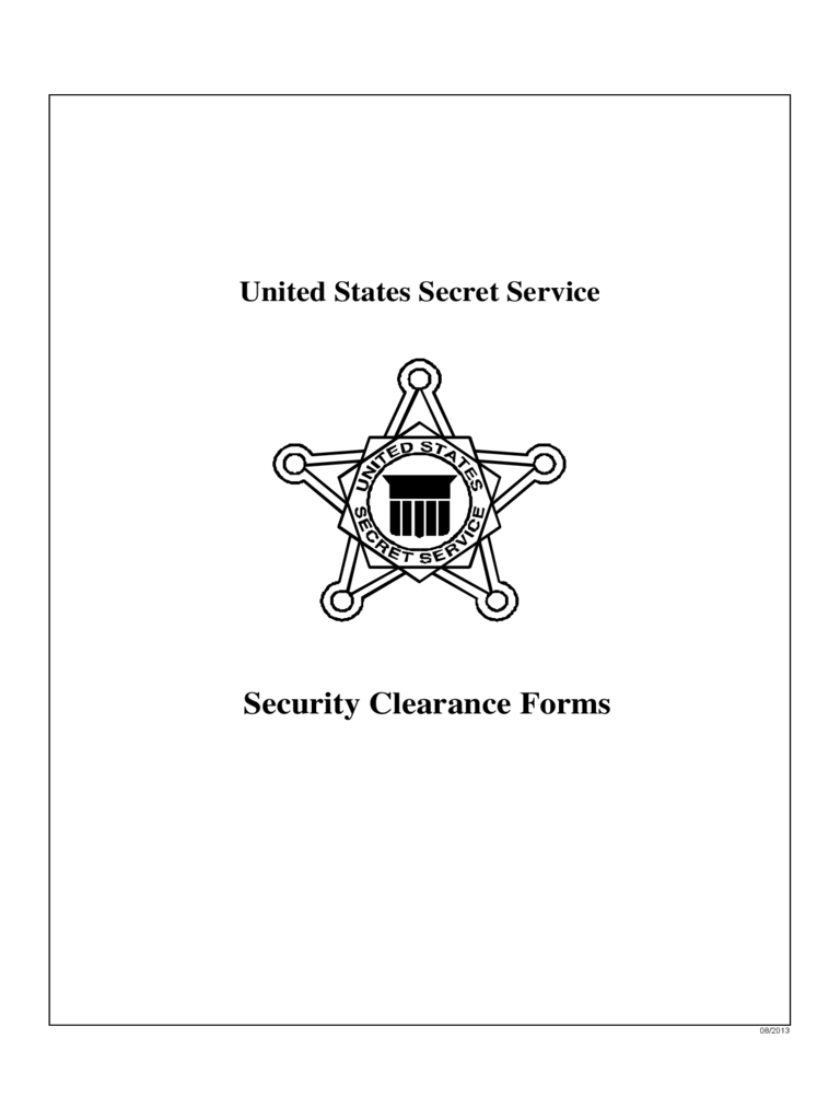 Security Clearance Forms - United States