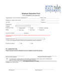 Employee Separation Form - New Jersey Free Download