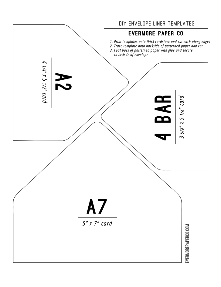 mailer format template - sample envelope liner template free download