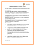 Sample Equality & Diversity Policy Free Download