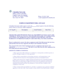 Equipment Bill of Sale Form - Columbia University Free Download