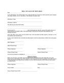 Bill of Sale of Movable - Louisiana Free Download