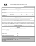 University of Alaska Fairbanks (UAF) Disability Services Equipment Loan Form Free Download
