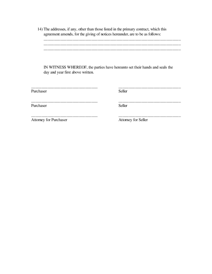 Form Of Post Closing Possession Agreement Free Download