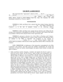 ESCROW AGREEMENT - Costner Law Office, PLLC Free Download