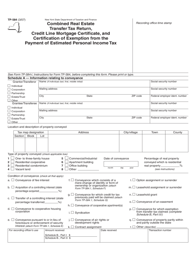 Combined Real Estate Transfer Tax Return Form