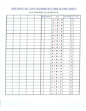 Five Handed Euchre Score Sheet Free Download