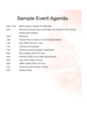 Sample Event Agenda Free Download