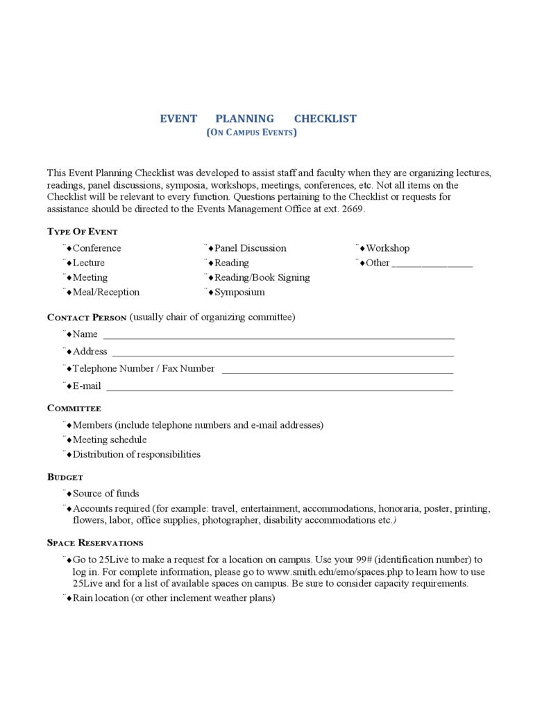 event planning checklist template 2 free templates in pdf word