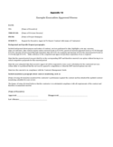 Sample Executive Approval Memo Free Download