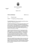 Executive Memorandum Sample Free Download