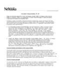 Executive Memorandum - University of Nebraska Free Download