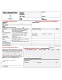 Visitor's Expense Report Free Download