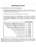 Reading Eye Chart Free Download
