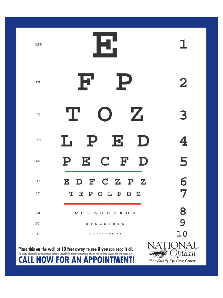 Eye Chart 6 Free Templates In Pdf Word Excel Download