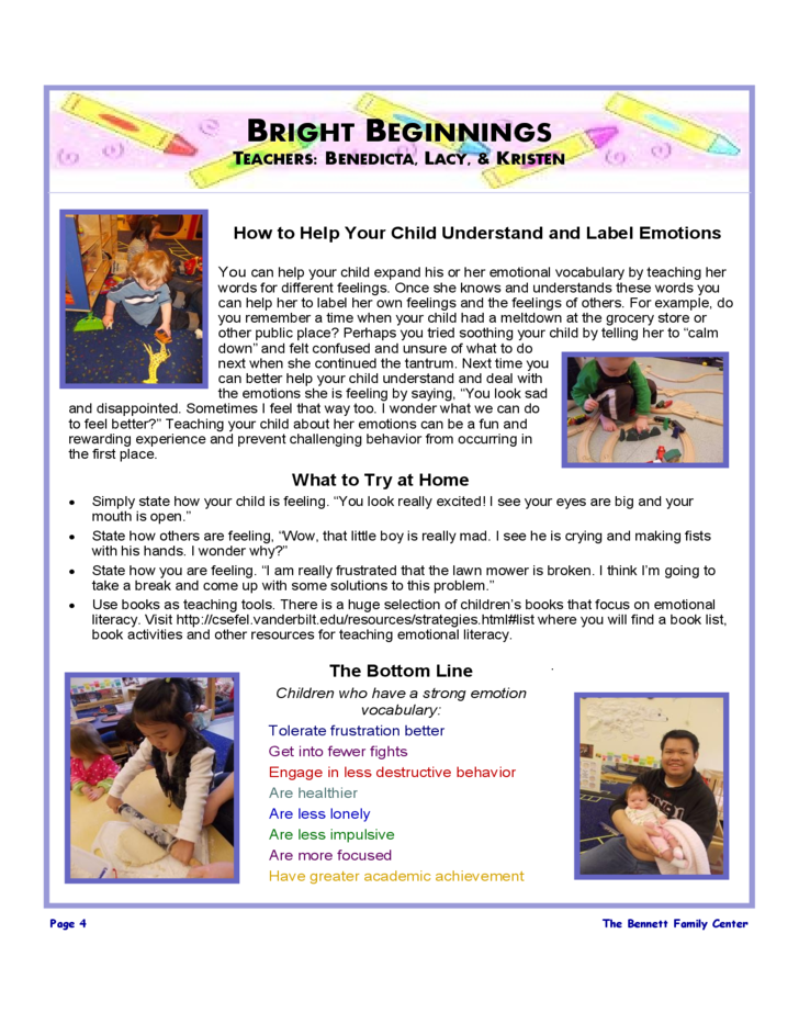 family center newsletter free download