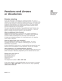 Pensions and Divorce or Dissolution Free Download