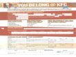 Kentucky Fried Chicken Job Application Form