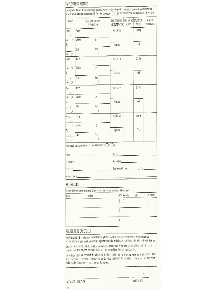 Wendys Job Application Form Free Download