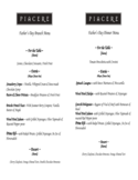 Father's Day Brunch and Dinner Menu Free Download