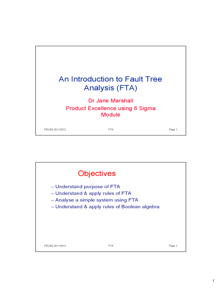 Fault Tree Analysis Template 2 Free Templates In Pdf Word Excel
