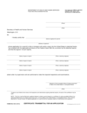 Form FDA 1815 - Certificate/Transmittal for an Application Free Download