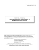 Form FDA 3759 - Abbreviated Reports on Radiation Safety of Non-Medical Ultrasonic Products
