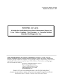 Form FDA 3661 - A Guide for the Submission of an Abbreviated Report