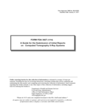Form FDA 3627 - A Guide for the Submission of Initial Reports
