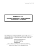 Form FDA 3639 - Guidance for Submission of Cabinet X-Ray System Reports